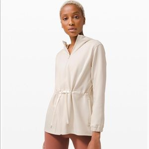 Lululemon Gotta Hustle Jacket Ivory Sz 2